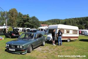 Rallyruth Abelsen 1985 BMW 528i og 1978 Corsar
