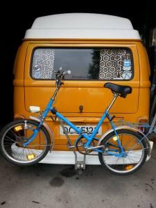 Roar Kristiansen: Mifa sammenleggbar sykkel fra DDR rundt 70-tallet er et must for den aktive caravanist...jah.