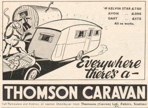 Thomson annonse fra 1949. BL