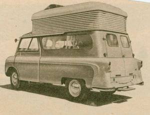 Utklipp av Kenex bobil 1960. BL