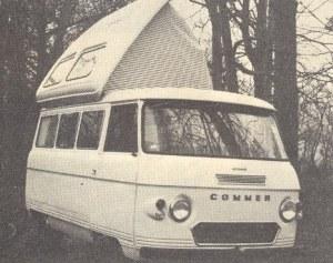 Utklipp av en Commer-basert Dormobile fra 1969. BL