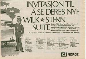 Wilk annonse fra 1973. BL