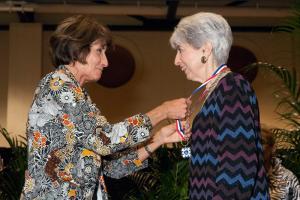 Sheila Tobias & President, Rita Bornstein