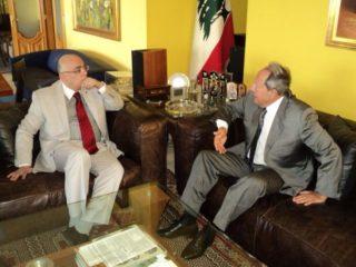 Desi Secretary General with ex Lebanese president Emil Lahoud