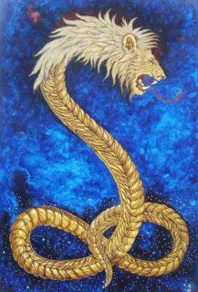 Demiurgo representado por el león con cara de serpiente
