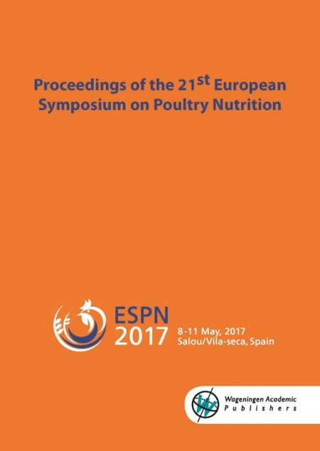 Proceedings Of The 21st European Symposium On Poultry Nutrition PDF Page 001