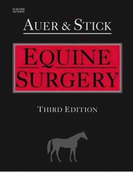 Equine Surgery 3rd Edition Book PDF Download