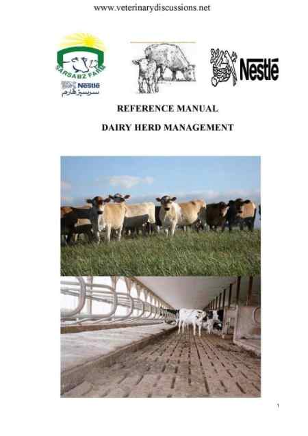 Nestle Reference Manual For Dairy Herd Management PDF Download