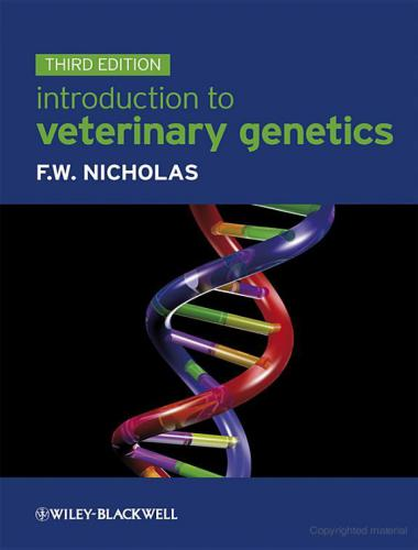 Introduction To Veterinary Genetics Third Edition