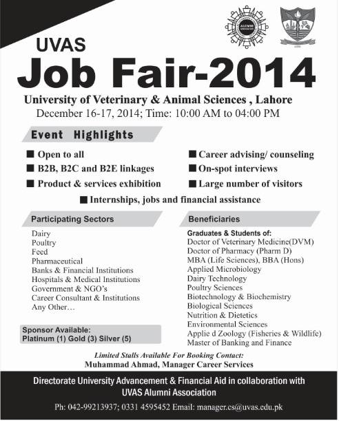 University of Veterinary of Animal Sciences - Job Fair 2014