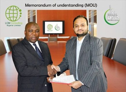Memorandum of Understanding (MOU) was signed between Halal Research Council (HRC) Pakistan & LCM Consulting Nigeria