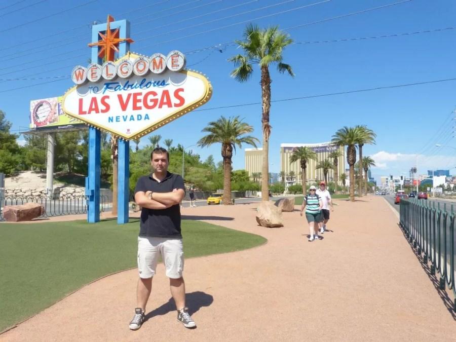 In Las Vegas zonder een foto met het welkomstbord? Onmogelijk!