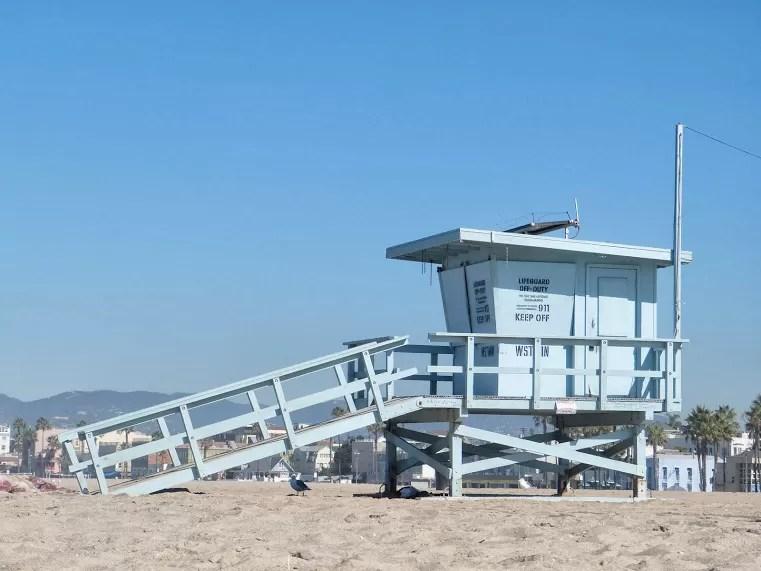 Relaxen op het strand van Baywatch