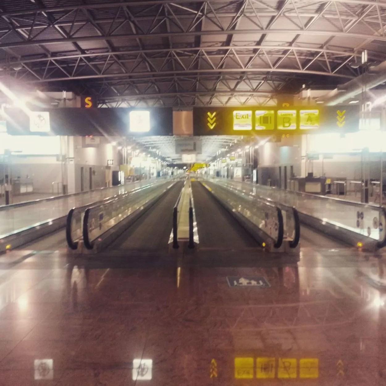 Kamperen op de luchthaven