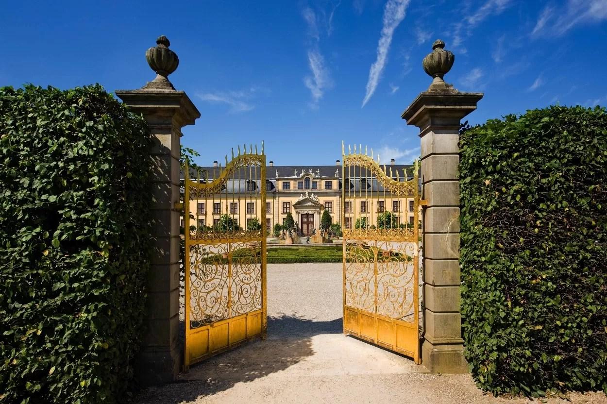Herrenhausen Gardens, de Gouden Poort.