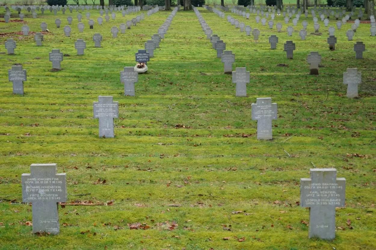 Blik op het slagveld van de Ardennen