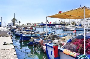 Sousse Tunesië haven boten