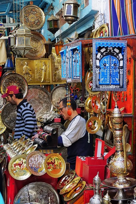 Medina Sousse Tunesië verkopers