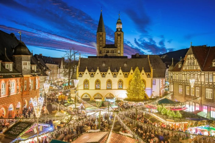 Goslar kerstmarkten in Nedersaksen