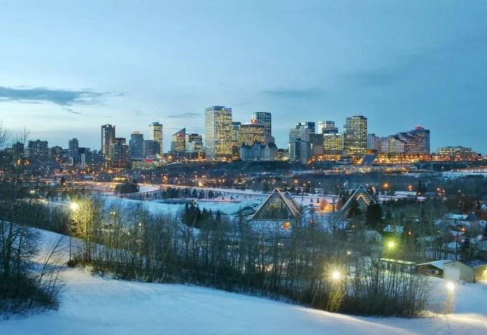 Skyline Edmonton Winter