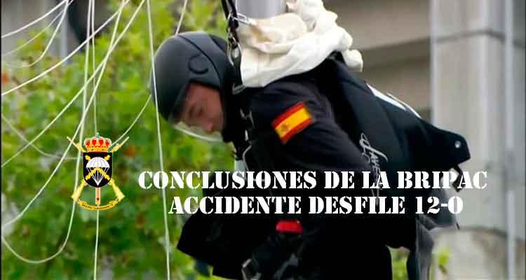 conclusiones accidente paracaidista desfile 12-O