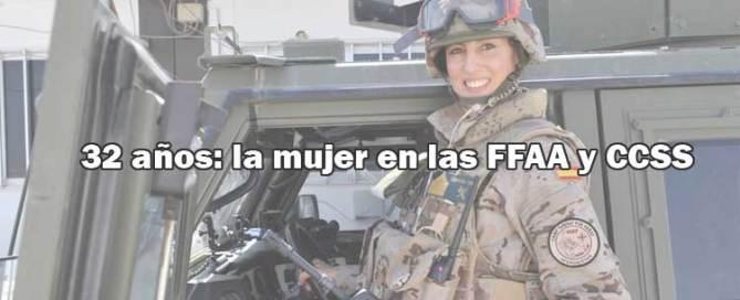 Mujeres en las FFAA y CCSSS