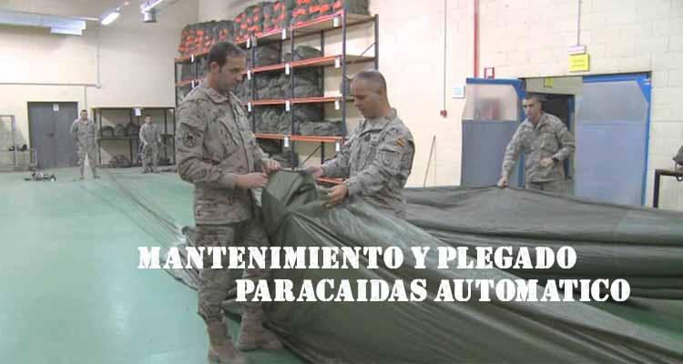 mantenimiento y plegado de paracaidas apertura automática