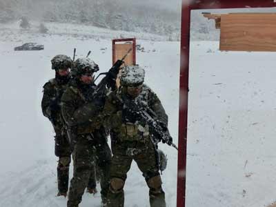 curso de operaciones especiales del MOE en nieve 2020-2021