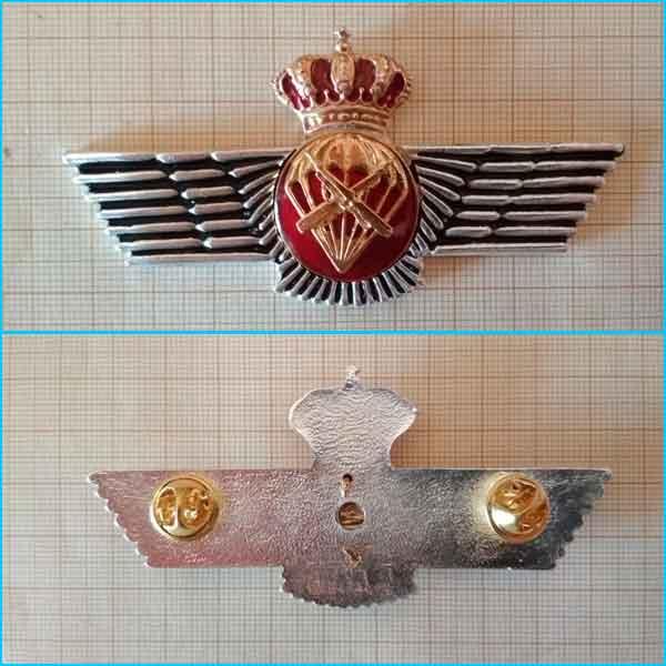 libro de emblematología paracaidista de España. Rokiski paracaidista