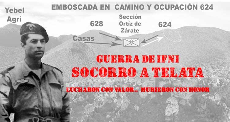 Guerra de Ifni: seccion paracaidista Tte Ortíz de Zárate en Tzelata
