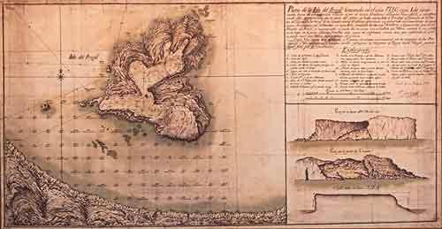 Mapa de la isla de Perejil