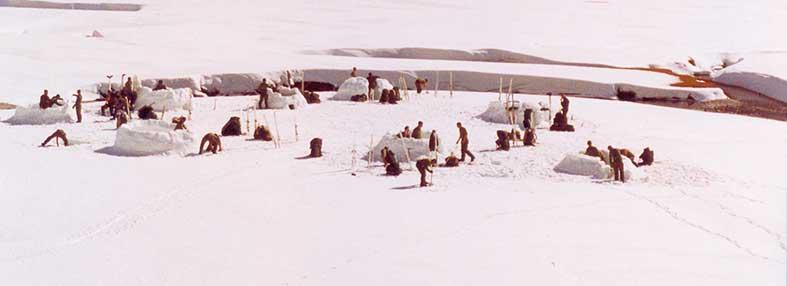 Boinas verdes especialistas en montaña