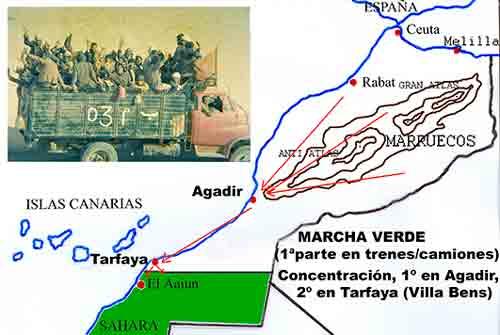 Traslado desde interior de Marruecos a Tarfaya