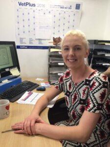 Jodi Porter in Customer Services at VetPlus