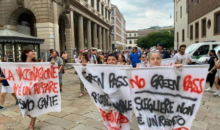 No green pass tornano in piazza, nuove proteste in diverse città