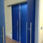 Porta scorrevole in vetro doppia anta - Roma - VetroeXpert - Porte in vetro su misura e Pareti divisorie