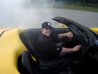 Burning Some Rubber in a C5 Corvette Convertible