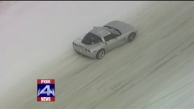 C6 Corvette Caught in Slippery Situation