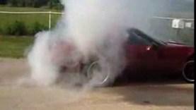 1995 Corvette Burnout