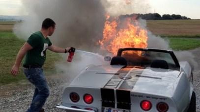 1968 Corvette C3 on Fire!!