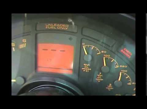 1990 – 1996 Corvette digital dash code retrieval and erasing procedure
