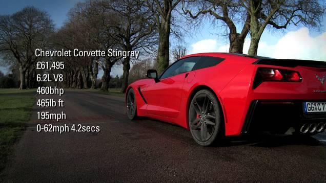 2014 Corvette vs Aston Martin V12 Vantage S and Jaguar F-Type V8S in 1500bhp shoot-out
