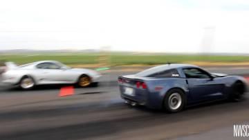 C6 Corvette Z06 Carbon Edition vs. Single turbo Toyota Supra at Racewars
