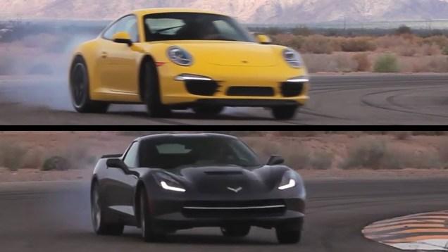 Corvette C7 vs Porsche 991 Carrera S. On Track