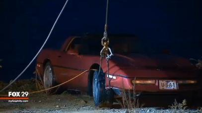 Man Dumps Estranged Wife's Corvette Into River