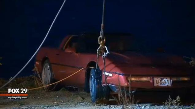 Man Dumps Estranged Wife's Corvette Into River