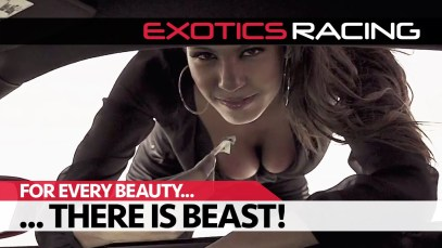 Sexy Chloe Mortaud drifting a Corvette Z06 car at Exotics Racing in Las Vegas!