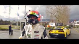 Oliver Gavin and 2015 Corvette Z06 at the 85th International Geneva Motor Show