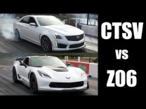2016 C7 Corvette Z06 vs 2016 Cadillac CTS-V At The Dragstrip