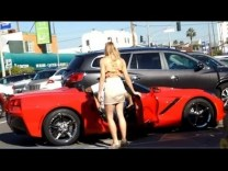 PLAYBOY MODEL PICKING UP GUYS IN A CORVETTE PRANK